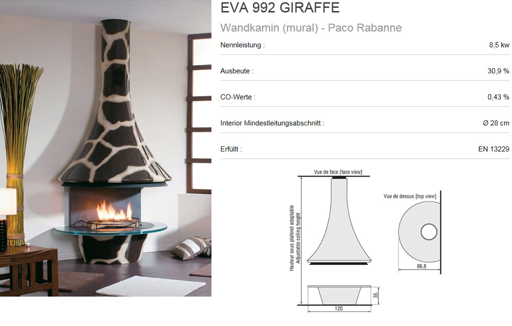Angebot für bordelet eva 992 , zelia 908 , lea 998 designer kamin ...